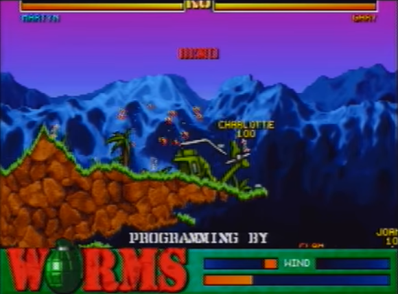 Worms 060 [Falcon030] atari screenshot